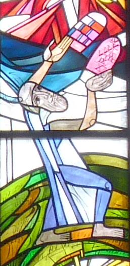 Mose nimmt die Tafeln des alten Bundes entgegen