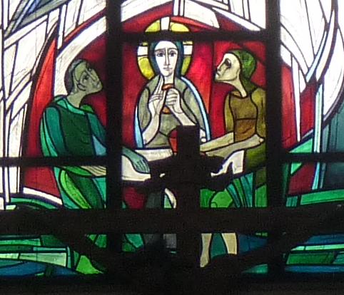 Christus beim Brechen des Brotes
