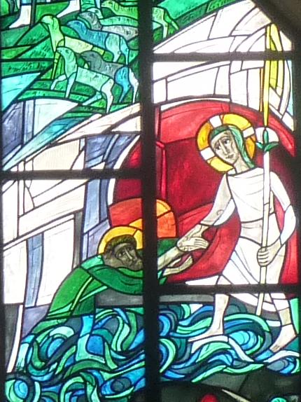Wandeln Jesu auf dem See Genezareth